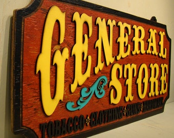 General Store, Rustic Sign, Vintage Sign, Ranch Sign, Country Sign, Wood Sign, Tobacco, Guns, Clothing, Hardware