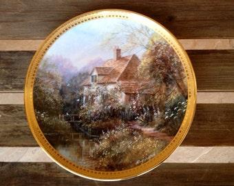 Royal Doulton Plate Woodbridge Cottage Collector Plate, Collectible Cottage Plate