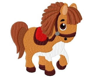 "Embroidery file ""Pony"" - SOFORTDOWNLOAD"