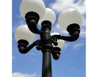 Outdoor 5 Arm Pole Light Victorian Replica Vintage Commercial or Home Classic