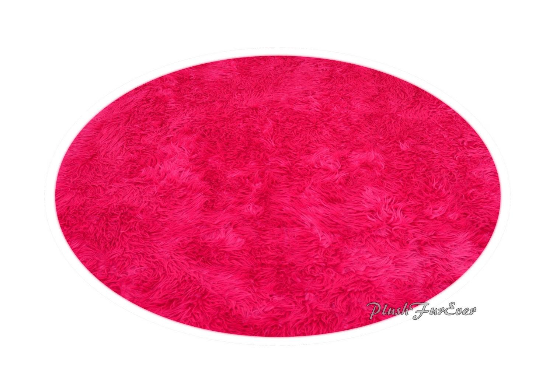 Baby Girl Nursery Rug Decor Hot Pink Mongolian Plush Furry