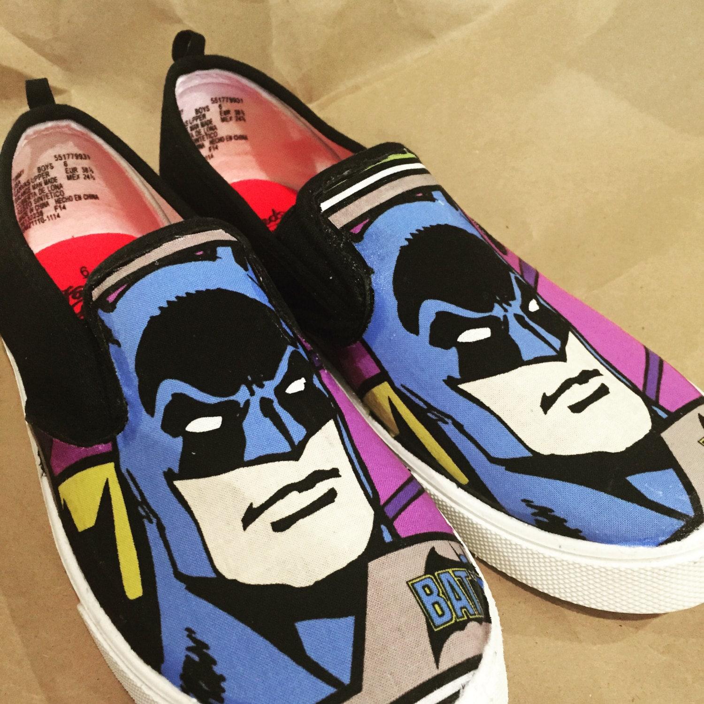 batman superman slip on shoes by upallnightprojects