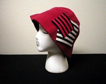 Upcycled Vintage Betmar 100% Wool Red Cap