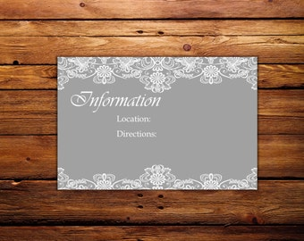 Lacy Invitation Information Card
