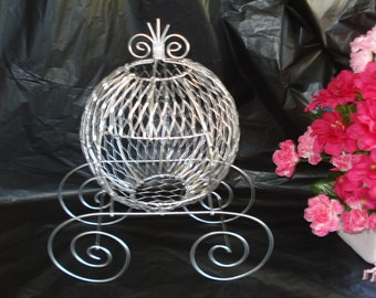 Silver Antique Cinderella Carriage - Great for Weddings, Birthdays or Baby Showers