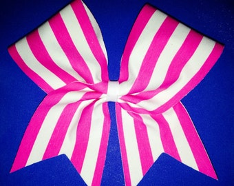 Hot pink & white Big cheer bow
