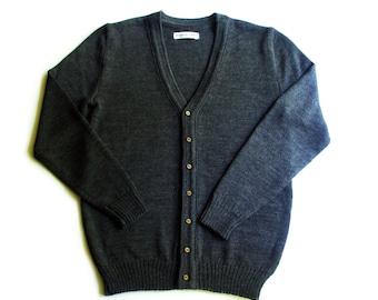 Men's Merino wool V-neck cardigan/sweater cardigan/jacket/jumper/vest