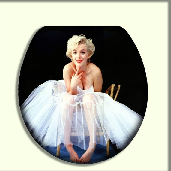 marilyn monroe in ballet skirt toilet seat by citydwellersboutique. Black Bedroom Furniture Sets. Home Design Ideas