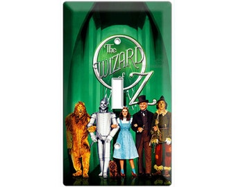 Wizard of Oz Dorothy Toto scarecrow cowardly lion tin man single light switch cover wall plates children's bedroom living room home decor