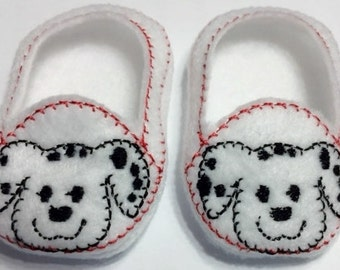 """Dalmation shoes for 18"""" dolls including American Girl"""
