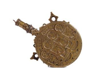18th century Moroccan Islamic Brass Powder Flash -Rare