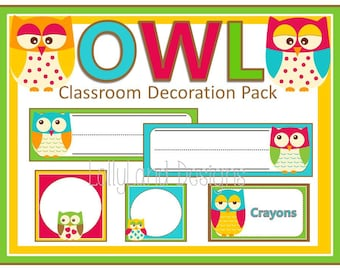 Owl Classroom Decoration Pack