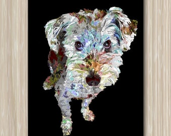A terrier poster - Digital Print of puppy 16x20