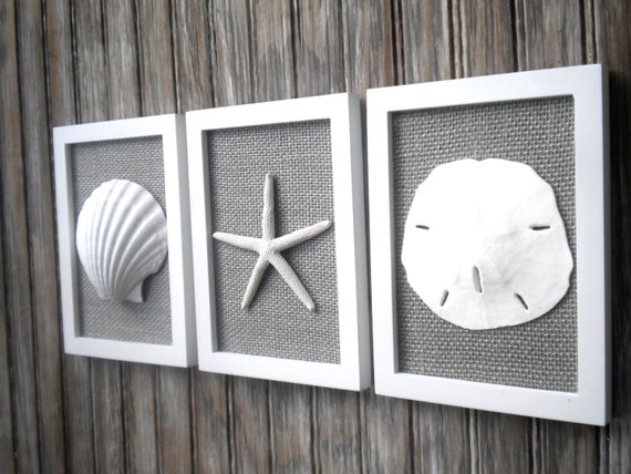 Cottage Chic Set Of Beach Wall Art Nautical Decor Beach House Wall