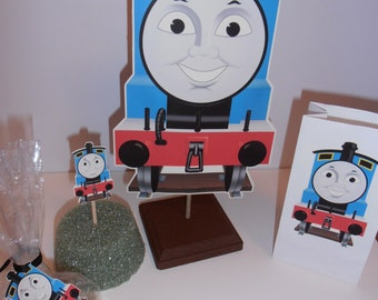 Thomas the Train centerpiece mounted on wood base TWO for 20.00 - Double sided