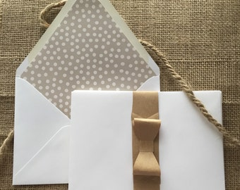 Gray & White Dots, Set of 10 Lined Envelopes