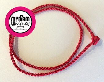 Red Silk Cord Necklace for Pendant and Jewelry - Red Rope Necklace