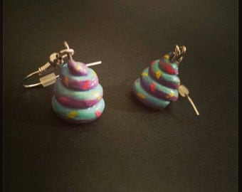 Unicorn Poop Earrings