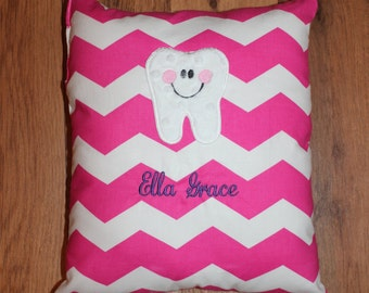 Monogrammed Tooth Fairy Pillow