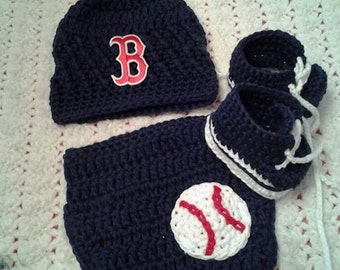 Boston Redsox baseball hat/beanie Inspired baby set photography props