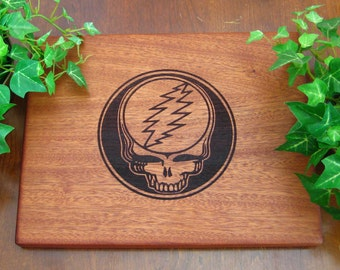 Grateful Dead, Steal Your Face, Lightning Bolt, Sacred Geometry, Personalized Cutting Board, Housewarming, Birthday Gift, Dead Head