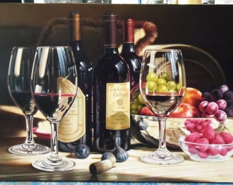 "Still life painting oil painting on canvas 20""X30"""