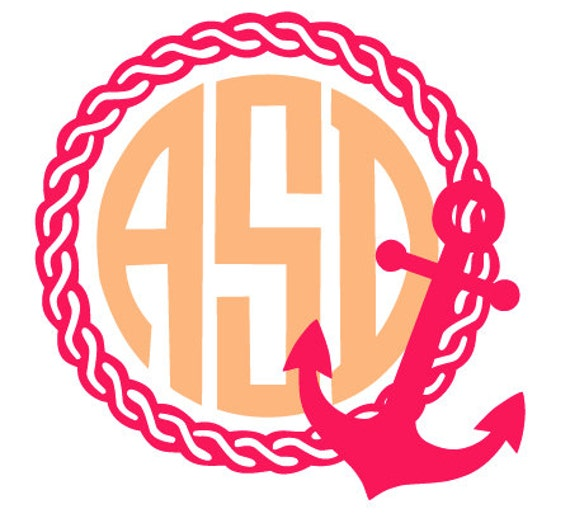 Anchor Rope Monogram Frame File For Cutting Machines