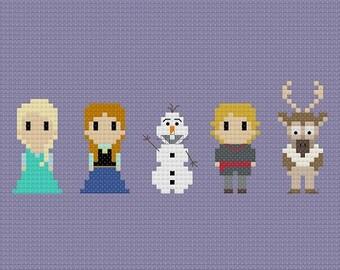 Frozen Cross Stitch Pattern