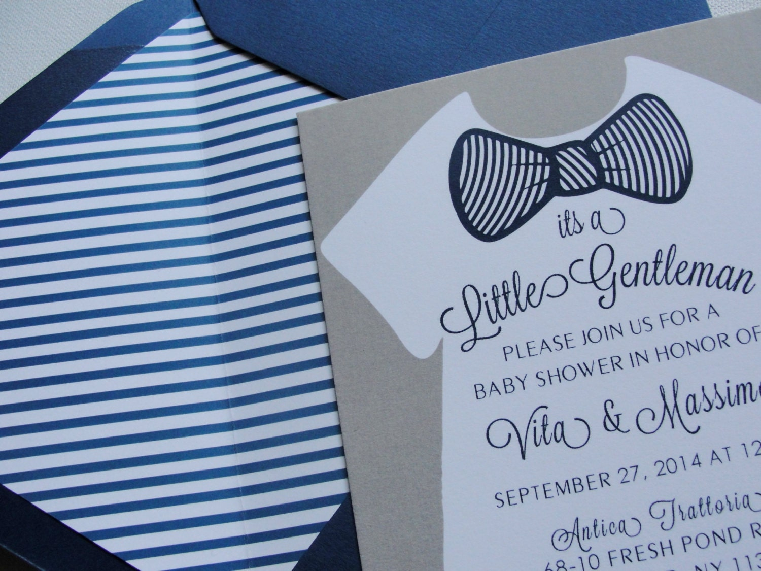Baby Shower Invitations / Little Gentleman / Blue by punchpaper