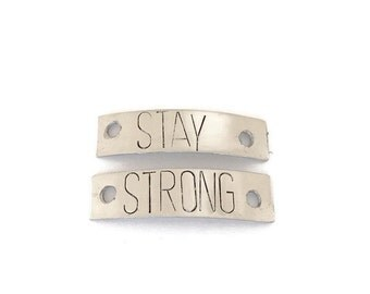 1 pair STAY STRONG shoe laces charm day