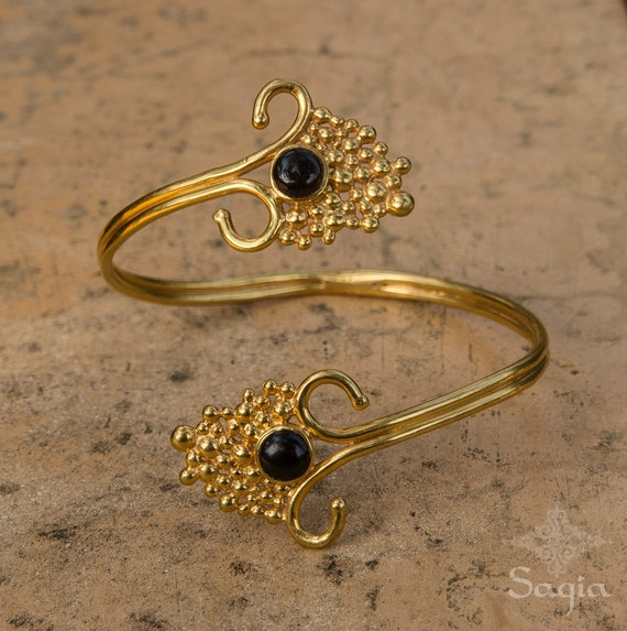 gold arm cuff with black onyx gold armlet upper arm cuff