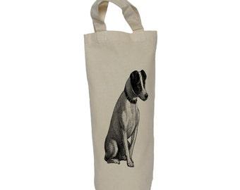 Wine tote, bottle bag,dog cotton bag,gift bag