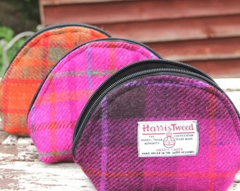 Harris Tweed Makeup Purse, makeup bag, woman accessories,