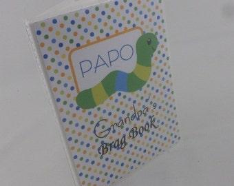 Grandmas Brag Book Baby Photo album personalized Boy baby album 4x6 or 5x7 Worm 199