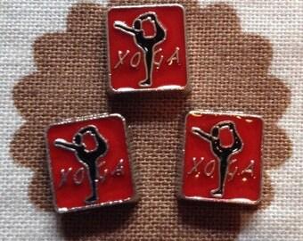 Yoga floating locket charm