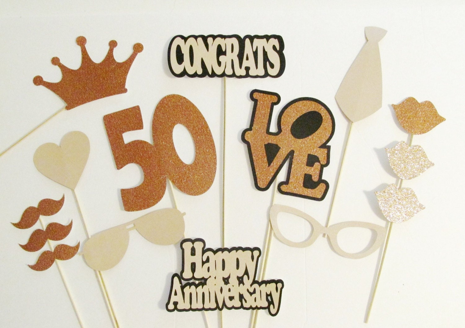 Photo booth props th anniversary party decorations pc set
