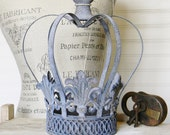 Crown Candle Holder,Metal Crown,Metal Candle Holder,Shabby Cottage Decor,French Country,Regal Crown Decor, Crown Decor,French Country