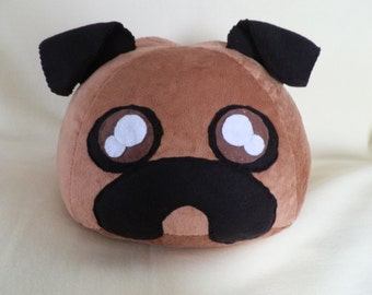 Cute Pug Puppy Plush or Pillow / Dog Pillow or Plush / Stuffed Pug / Animal
