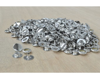 Line 20 Snap Steel Fasteners Nickel Plated, Leathercraft, 100 pack - 48386