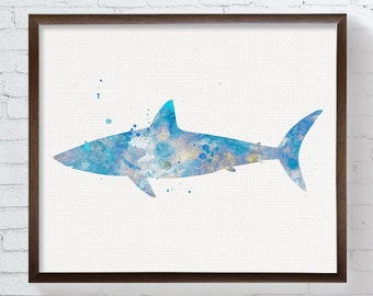 Shark Wall Art shark art | etsy
