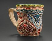 Mug/teacup with lots of hearts