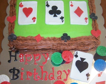 Poker Night Party Cake Topper