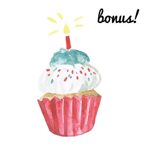 Watercolor Cake Clip Art : Watercolor Cupcake Clipart cake clip art bakery clipart ...