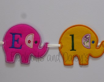 Elephant Parade Banner Embroidery  Design file.
