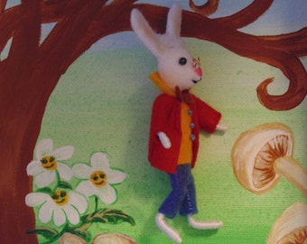 The White Rabbit Miniature Character Art Doll