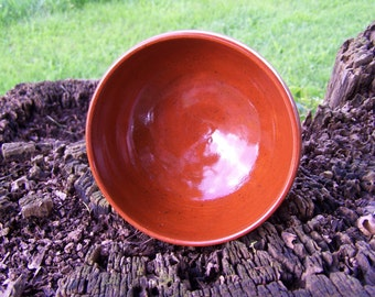 """Hand made pottery bowl, hand made salsa bowl, glazed and fired to cone 6 measures 2 1/2"""" high X 5""""  wide"""