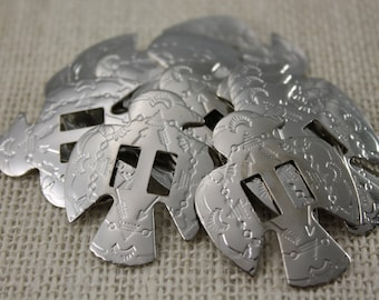 Silver Thunderbird Conchos (6 pieces)