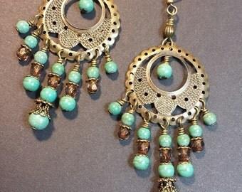 Chandelier Earrings, Bohemian Earrings, Boho Earrings, Boho Chic Jewelry, Gypsy Earrings