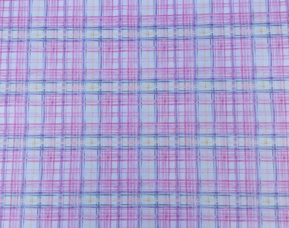 Pink and Lavender Plaid Fabric by Timeless Treasures