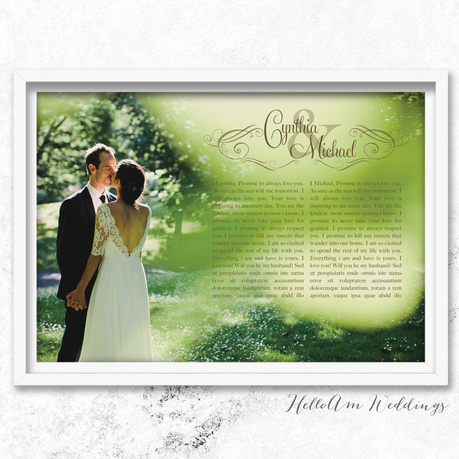 Wedding Gifts For Bride And Groom In Singapore : parent wedding gift wedding gift for bride and groom by HelloAm